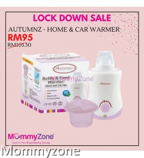 Autumnz - Home & Car Use Bottle And Food Warmer (Blue / Lilac)