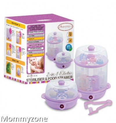 Autumnz - 2-in-1 Electric Steriliser And Food Steamer (Lilac / Blue)