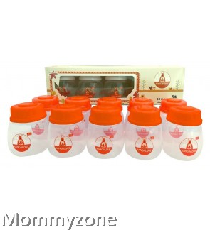 Kangalove 2oz BPA Free PP Breast Milk Storage Bottles - Orange (10pcs)