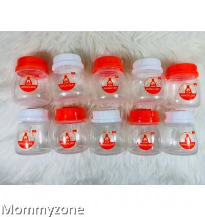 Kangalove 2oz BPA Free PP Breast Milk Storage Bottles - Mix (10pcs)