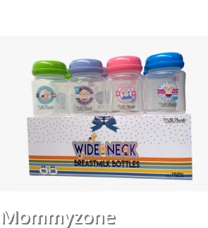 Milk Planet WideNeck Breastmilk Storage Bottle 5 oz (8 Bottles)