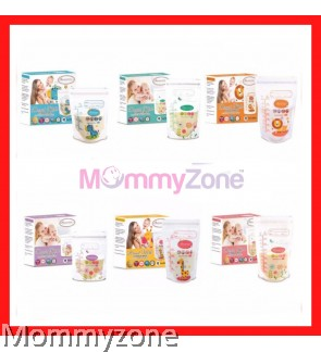 AUTUMNZ - DOUBLE ZIPLOCK BREAST MILK STORAGE BAG (28PCS)  ( 5oz / 7oz / 10oz / 12oz)
