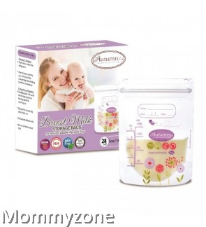 Autumnz - Double ZipLock Breastmilk Storage Bag 5oz (28 bags)- FLORAL