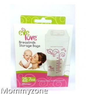 Eve Love BPA Free Breastmilk Storage Bag 7oz/200ml (25 pcs)