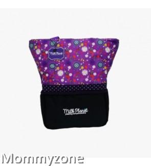 Milk Planet - Signature Cooler Bag (Purple Floral) + FREE ICE BRICK