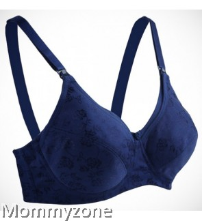 Autumnz - ELLA Padded Nursing/Maternity Bra (Satin Navy Blue)