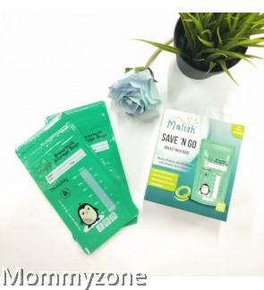 Malish – SAVE 'N GO Breast Milk Bags 6oz/180ml (25bags) *Green Penguin