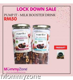 Pump It - Milk Booster Drink (1 BOTTLE) (Rose Buds / Goji Berries)