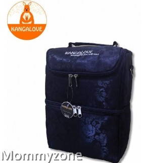 Kangalove Premium Cooler Bag Black + FREE Ice Brick