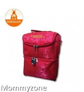 Kangalove Premium Cooler Bag Maroon + FREE Ice Brick