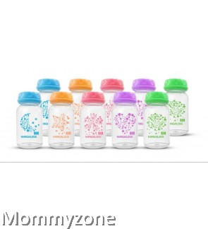 Kangalove - Breast Milk Storage Bottle 5oz/150ml (10pcs) with Mix Color (NEW)