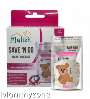 MALISH – BEAR THERMAL SENSOR BREAST MILK BAGS 3.4OZ/100ML (25BAGS)
