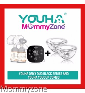 Youha Onyx Duo Black Series Double Electric Breast Pump + Youha Youcup