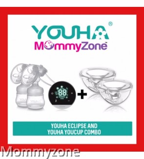YOUHA ECLIPSE DOUBLE ELECTRIC BREAST PUMP + YOUHA YOUCUP