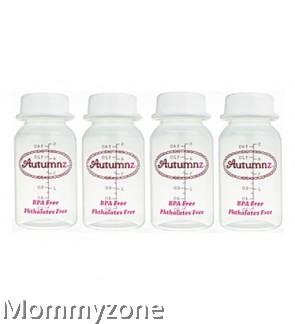 New Autumnz Breastmilk Storage Bottle BPA Free 5oz (1Pcs) - Clear