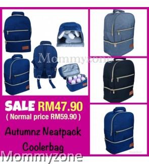 Autumnz - NEATPACK Cooler Bag (BLACK/SAPPHIRE BLUE/ASH GREY/TEA GREEN)