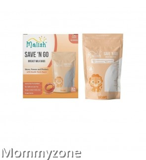 MALISH – SAVE 'N GO BREAST MILK BAGS 4OZ/120ML (28BAGS) * BRAVE