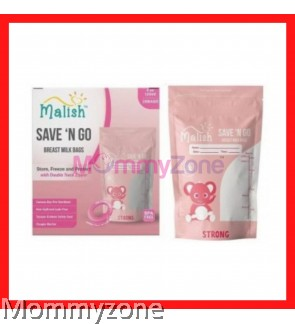 MALISH – SAVE 'N GO BREAST MILK BAGS 4OZ/120ML (28BAGS) * STRONG