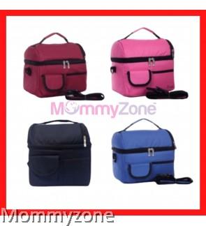 COOLER BAG ( BLACK / MAROON / BLUE / PINK )