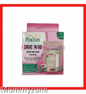 MALISH – SAVE 'N GO BREAST MILK BAGS 3.4OZ/100ML (25BAGS) * ELEPHANT