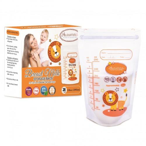 Autumnz Double Ziplock Breastmilk Storage Bag 10oz 28